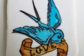 Sparrow with BannerTattoo  Cookie