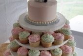Mint and Pink Cupcake Tower