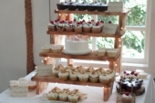 Rustic tiered cupcake display