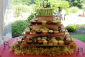 Grass Themed Cupcake Tower