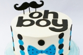Oh Boy Baby Shower Cake