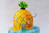 Spongebob Themed Cake