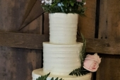 Four Tiered Rustic Wedding Cake