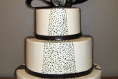 Dots and bow wedding cake