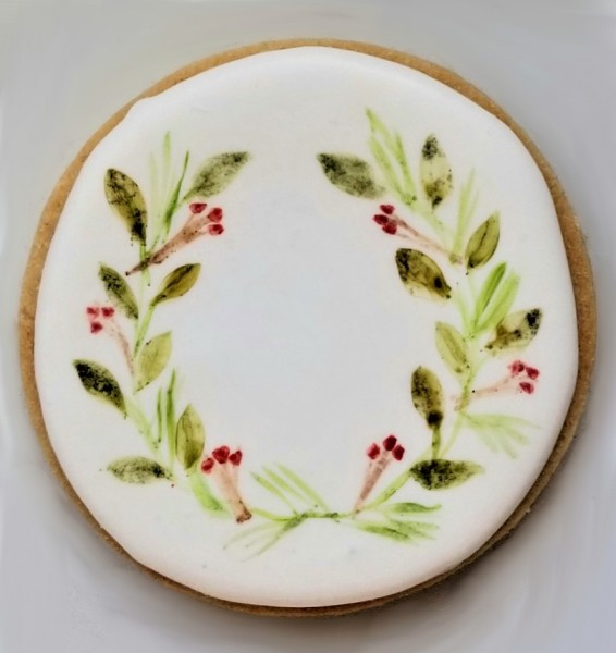 Painted Wreath Cookie