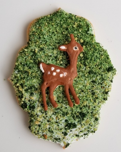 Deer on grass Cookie