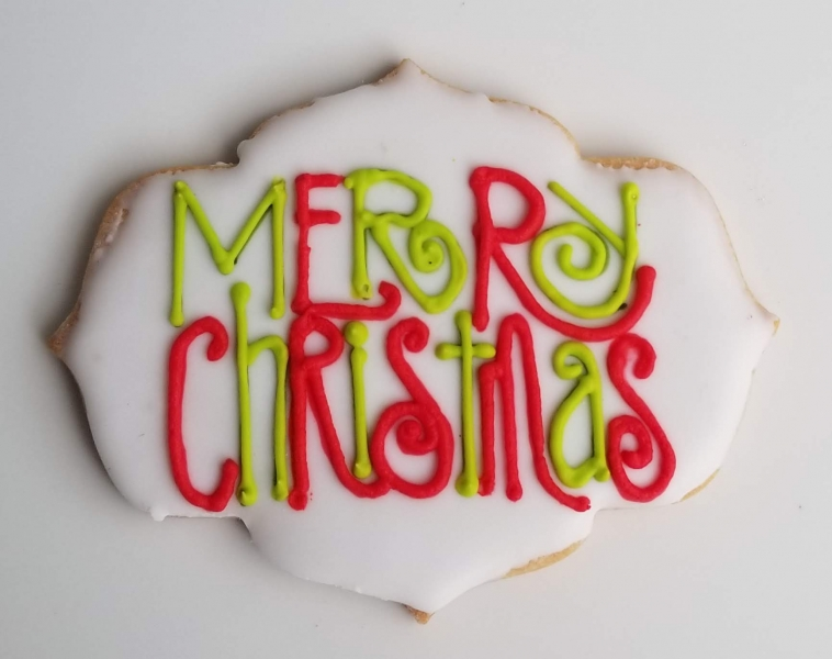 Funky merry Christmas plaque