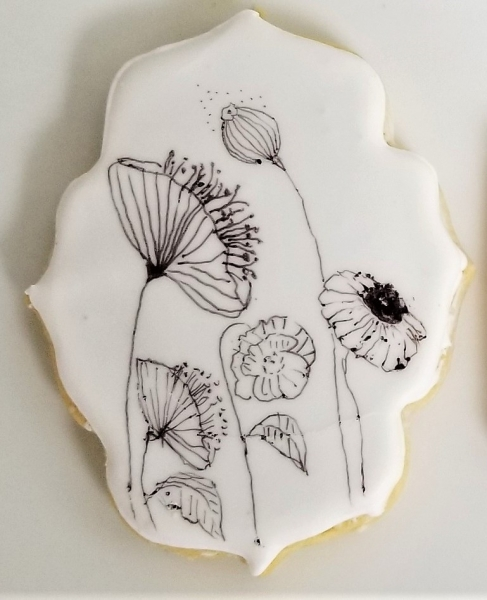 Inked poppies Cookie