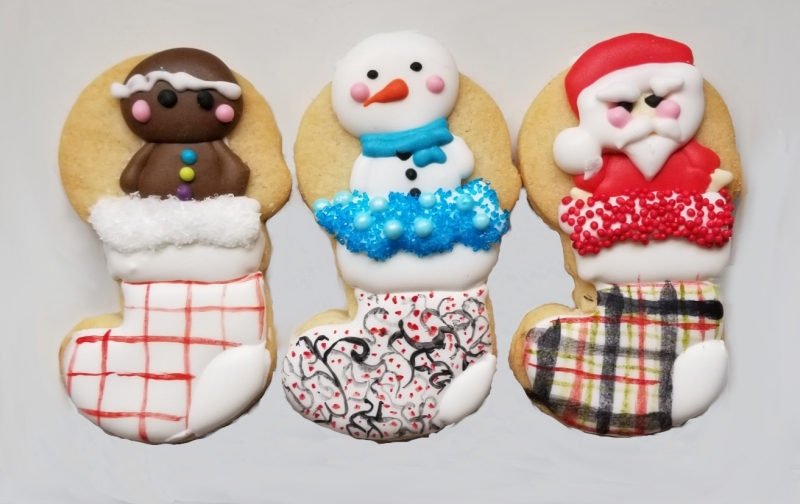 Mini Stocking Cookies
