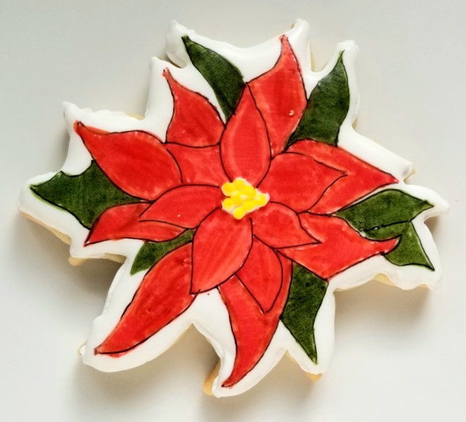 Poinsettia Stained Glass Cookie