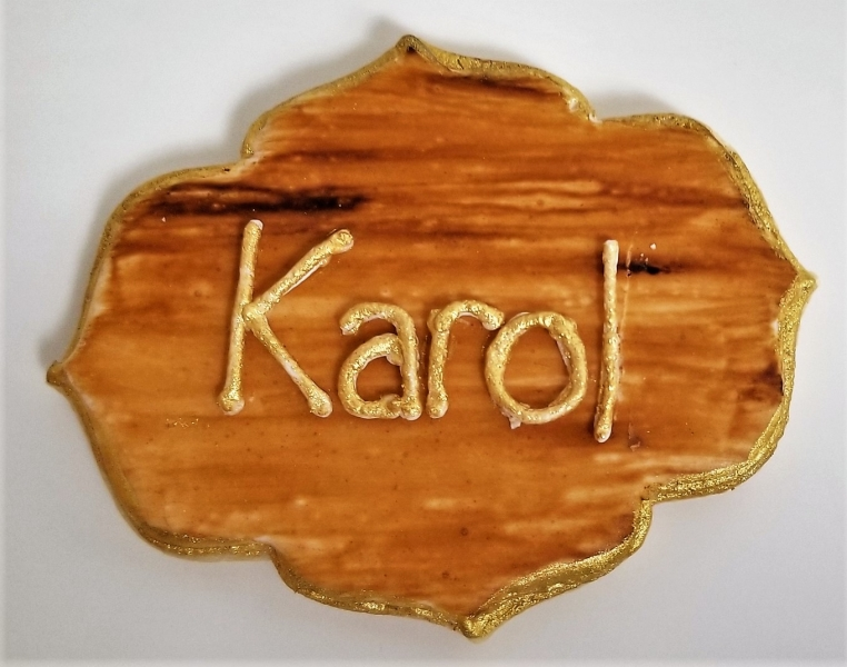 Woodgrain Plaque Cookie