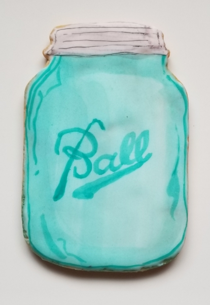 Vintage Ball Jar cookie