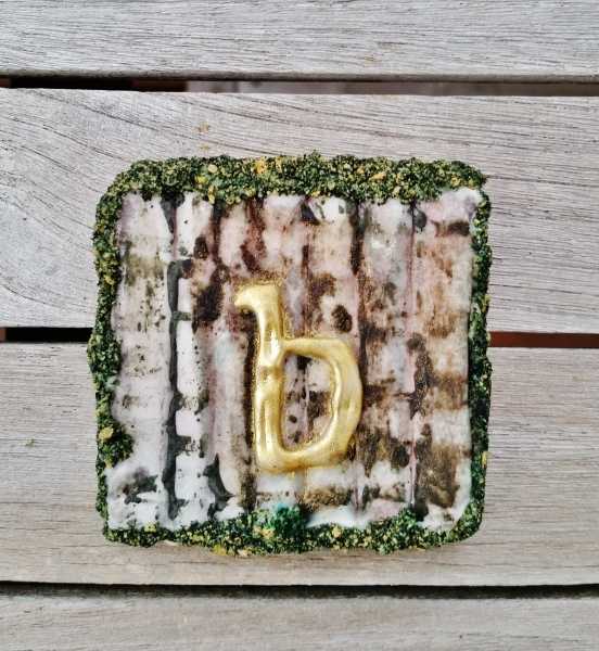 Birch and Moss Monogram Cookie