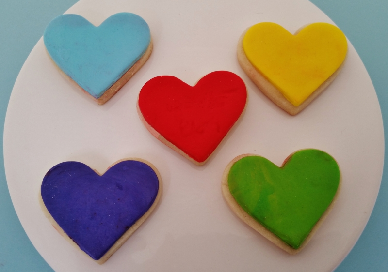 Candy Heart Mini Cookies