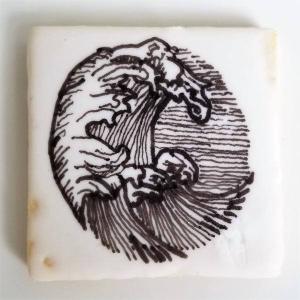 Inked Wave Cookie