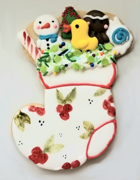 Giant Painted Stocking Cookie