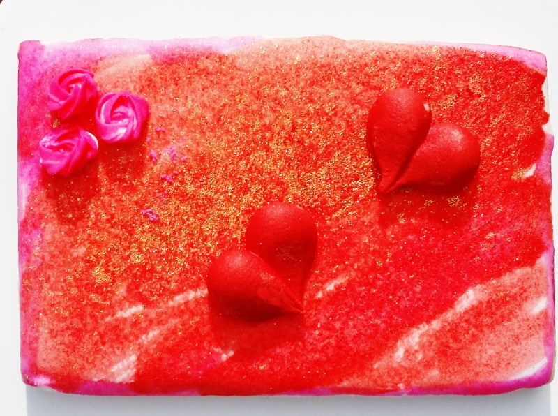 Painted Heart Cookie