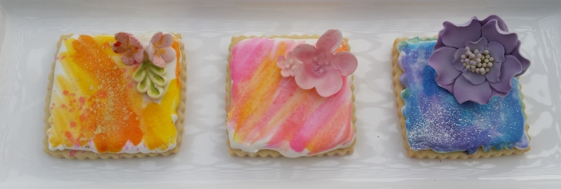 Spring Water Color Cookies