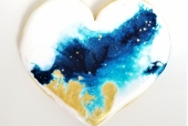 Blue Poured Heart