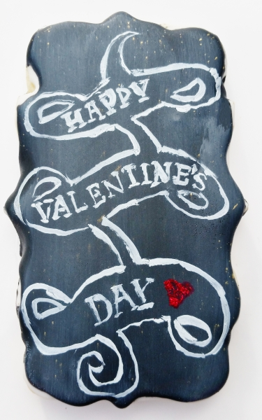 Valentine's Day Chalkboard Cookie