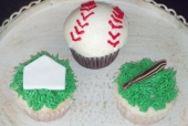 Baseball Themed Cupcakes
