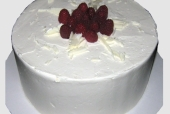 Black and White Raspberry Cake