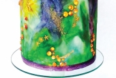 Neverland Watercolor cake