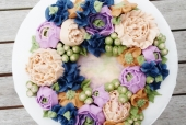 Korean Buttercream Flower Wreath