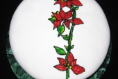 Poinsettia Stained Glass Cake
