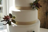 Simple Fall wedding cake