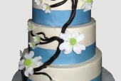 Sugar dogwood wedding cake