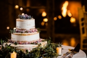 Sugared Cranberry Semi-Naked Wedding Cake