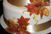 Fall wedding cake detail