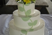 Pear vine wedding cake