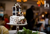 Chocolate covered strawberry box wedding cake